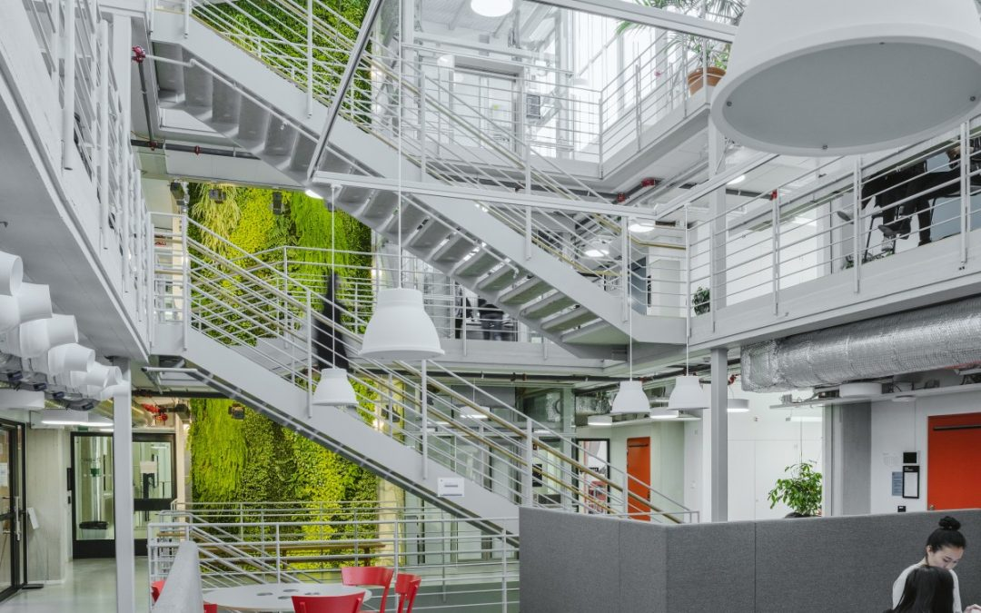 Active Plant Wall in KTH university building