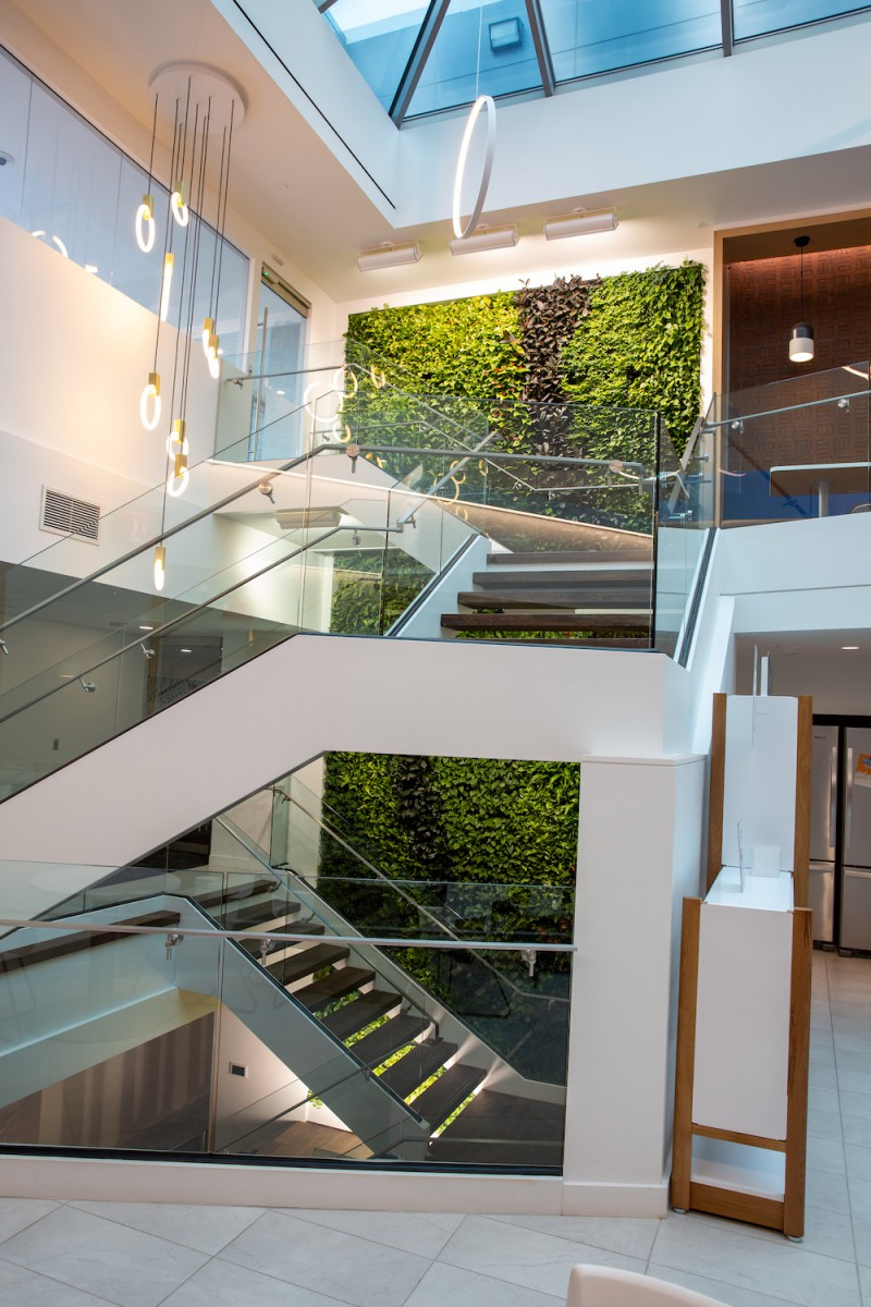 Multi Story Plant Wall, Interior Plantscapes USA